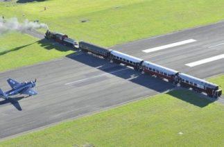 Аэропорт Гисборн в Новой Зеландии — место где взлётную полосу пересекает железная дорога