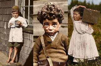 Фотограф обработал фото детского труда, сделанные 100 лет назад: снимки просто потрясающие