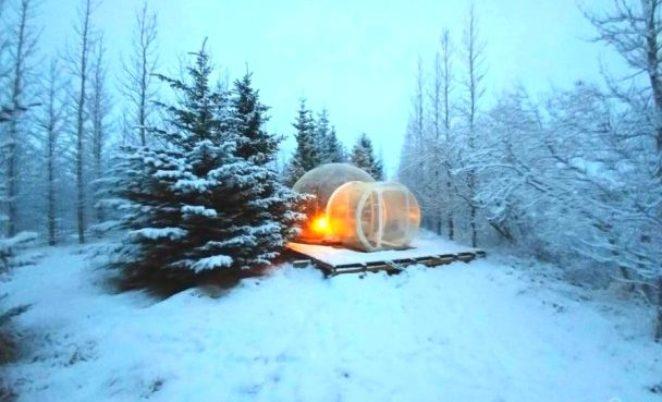 Отель-пузырь, в котором можно жить где угодно