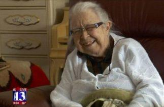 99-летняя бабушка отчитала вора, который к ней вломился с пистолетом