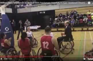 Принц Уильям сыграл в баскетбол на инвалидных колясках