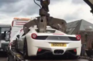 В Британии уничтожили Ferrari: владелец не доказал, что не угнал спорткар
