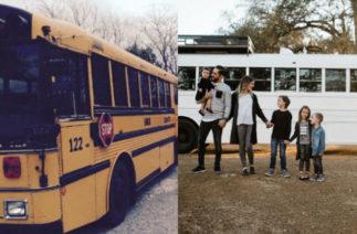 «Семья стала только крепче»: многодетные родители переделали старый школьный автобус в стильный мобильный дом