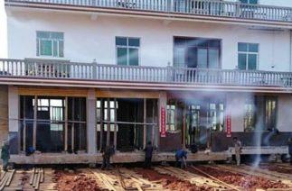 Китаец передвинул дом на 40 метров, чтобы избежать сноса